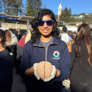 Me holding a brain